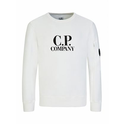 White Logo Print Sweatshirt