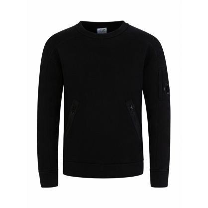 Black Zip Pocket Sweatshirt