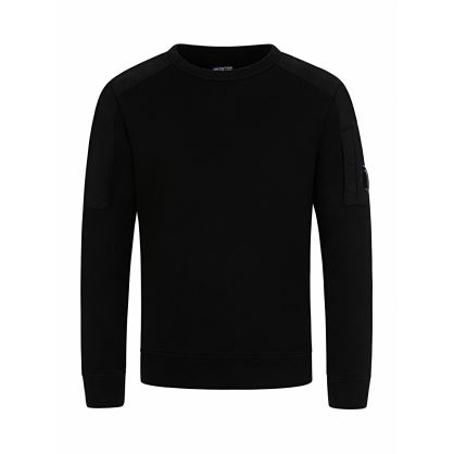 Black Patch Sleeve Sweatshirt