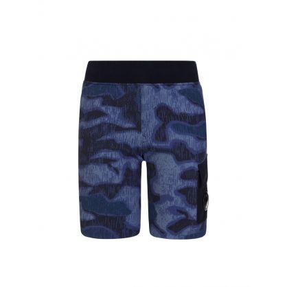 Purple Camo Cargo Sweat Shorts