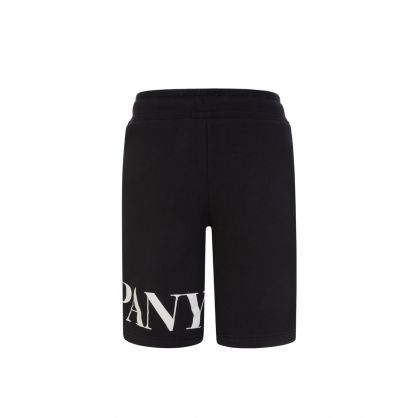 Black Logo Sweat Shorts