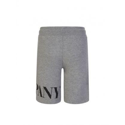 Grey Basic Fleece Logo Sweat Shorts