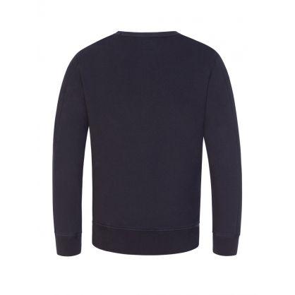 Navy Lens Arm Logo Sweatshirt