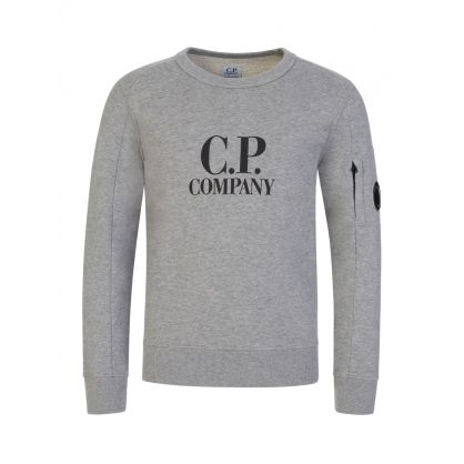 Grey Lens Arm Logo Sweatshirt