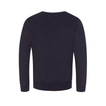 Navy Lens Arm Sweatshirt