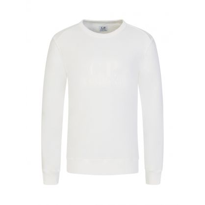 White Embossed Logo Sweatshirt