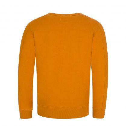 Orange Fleece Sweatshirt
