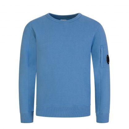 C.P. Company Blue Fleece Lens Sweatshirt