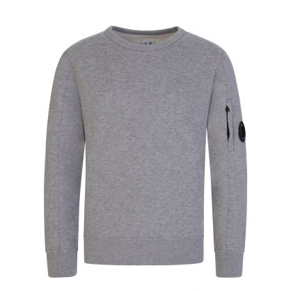Grey Lens Fleece Sweatshirt