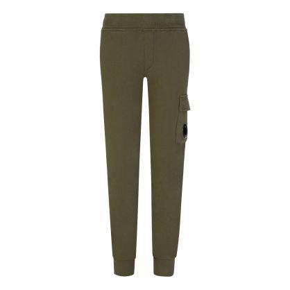 Green Fleece Cargo Sweatpants