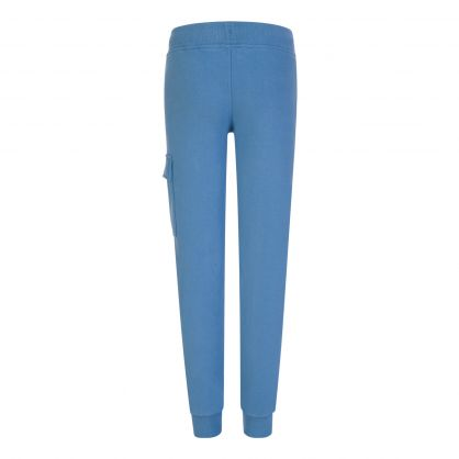 Blue Basic Fleece Cargo Sweatpants