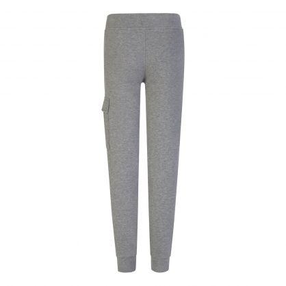 Grey Fleece Cargo Sweatpants