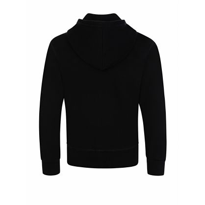 Kids Black Relaxed-Fit ICON Zip-Through Sweatshirt