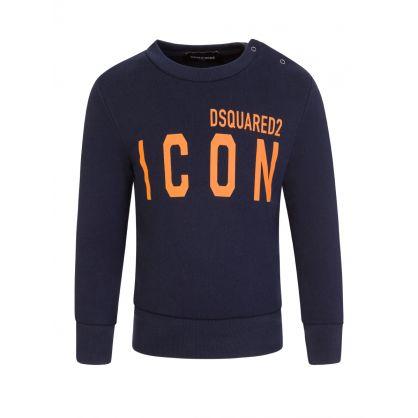 Kids Navy ICON Baby Sweatshirt