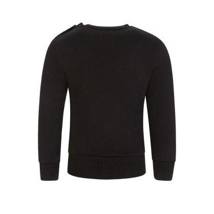 Kids Black ICON Logo Sweatshirt