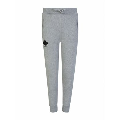 Kids Grey Maple Leaf Logo Sweatpants