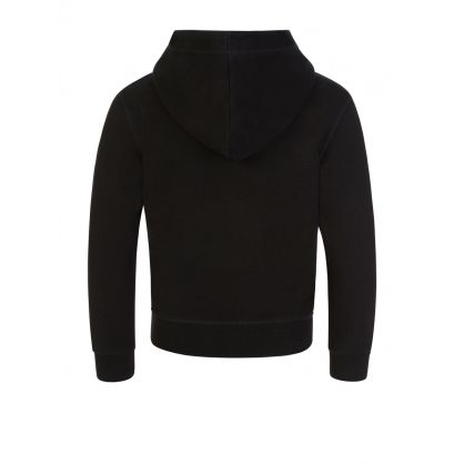 Kids Black Relaxed-Fit Hoodie