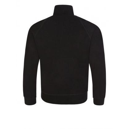 Kids Black Relaxed-Fit Zip-Through Sweatshirt