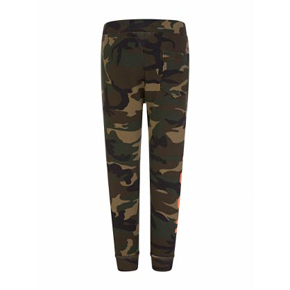 Kids Green Camo-Print ICON Sweatpants