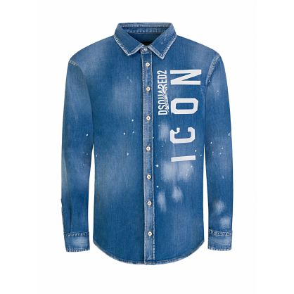 Kids Blue Denim ICON Shirt