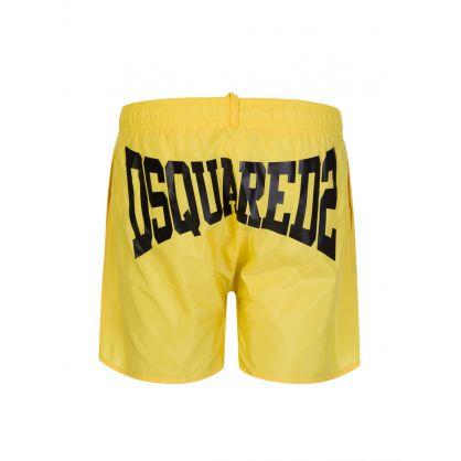 Kids Yellow Classic Logo Swim Shorts