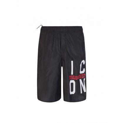 Kids Black Block Logo ICON Swim Shorts