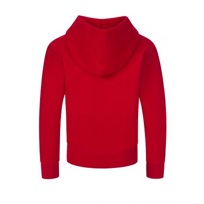 Kids Red Cool-Fit Cotton Popover Hoodie