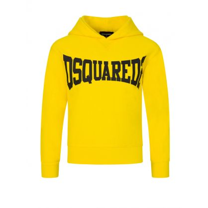 Kids Yellow Cool-Fit Cotton Popover Hoodie
