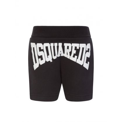 Kids Black Logo Baby Shorts