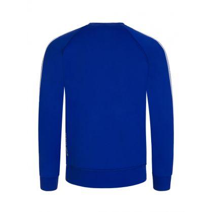 Kids Blue Sport Edtn. Tape Logo Sweatshirt