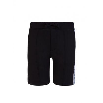 Kids Black Sport Edtn. Logo Tape Shorts