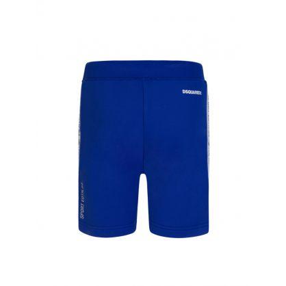 Kids Blue Sport Edtn. Logo Tape Shorts