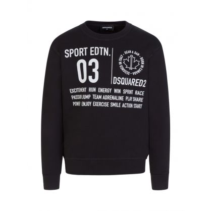 Kids Black Sport Edtn. Sweatshirt