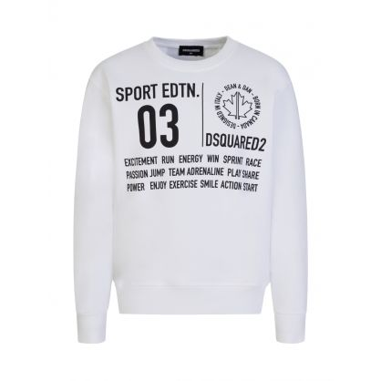 Kids White Sport Edtn. Sweatshirt