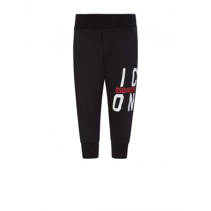 Kids Black ICON Baby Sweatpants