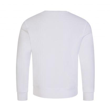 Kids White ICON Logo Sweatshirt