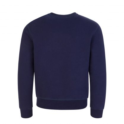 Kids Navy Blue Relaxed-Fit ICON Sweatshirt