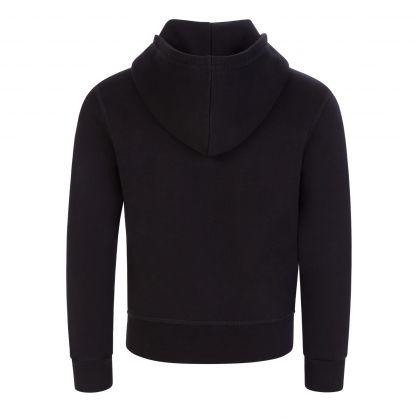 Kids Black ICON Hooded Zip-Through
