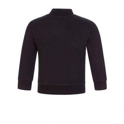 Kids Black ICON Zip-Through Sweatshirt