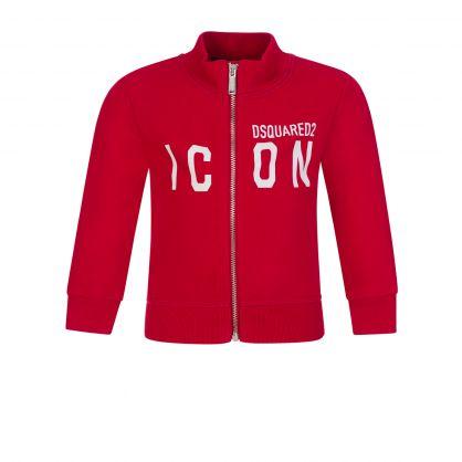 Kids Red ICON Zip-Through Sweatshirt