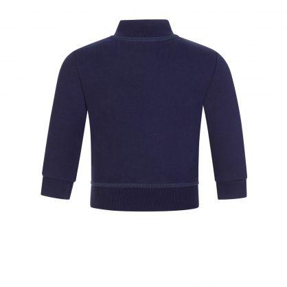 Kids Navy ICON Zip-Through Sweatshirt