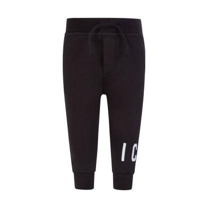 Kids Black ICON Cuff Sweatpants