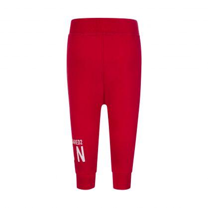 Kids Red ICON Cuff Sweatpants