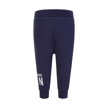 Kids Navy ICON Cuff Sweatpants