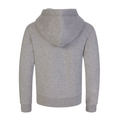 Kids Grey Relaxed-Fit Leaf Logo Popover Hoodie