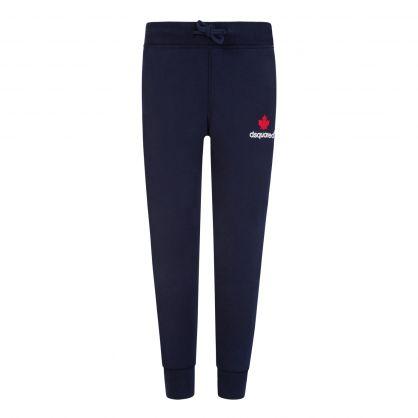 Kids Navy Leg Logo Sweatpants
