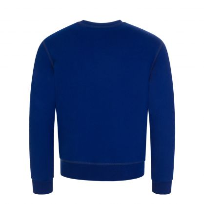 Kids Blue Relaxed-Fit Shadow Leaf Sweatshirt
