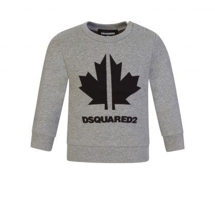 Kids Grey Toddler Leaf Logo Sweatshirt