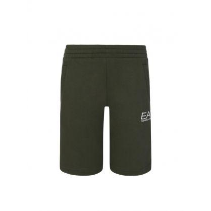 Junior Green Sweat Shorts