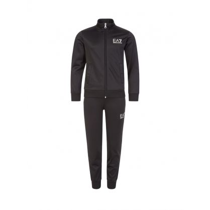 Junior Black Turtleneck Logo Tracksuit